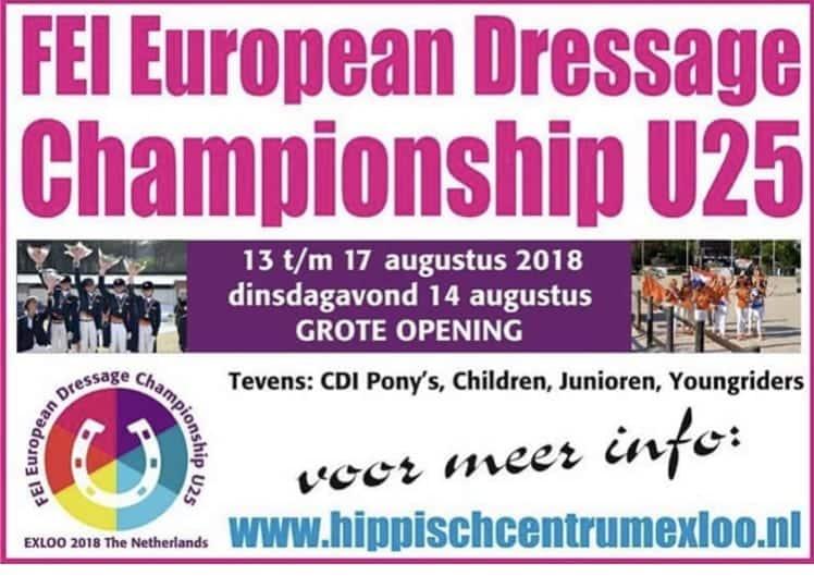 Start in Exloo,im Rahmen der Europameisterschaft der U25